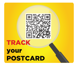 Tracking postcard
